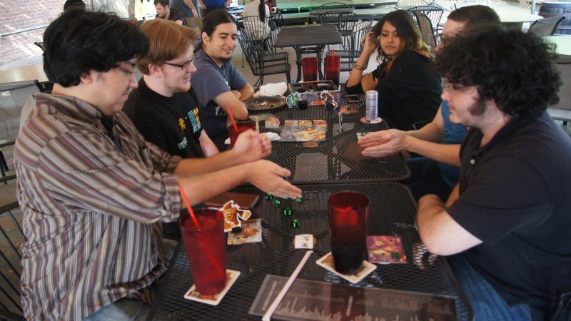 Gamers roll the dice at the Chromatic Dragon