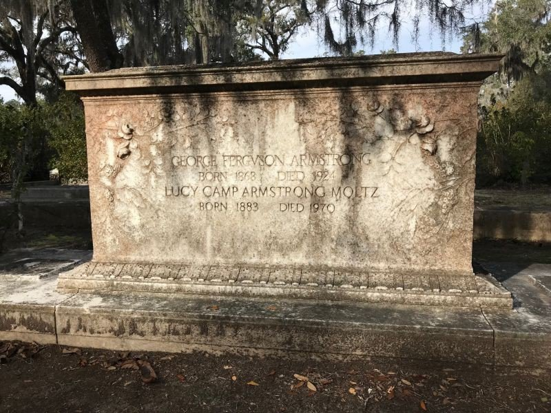 George and Lucy are buried in Bonaventure Cemetery.