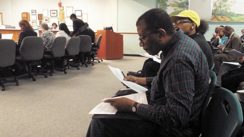 Ivan Cohen is shown at a recent school board meeting. He also helps organize the Juneteenth festival.