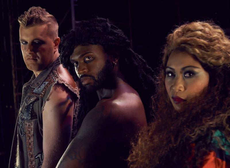 Dan Finn (Judas), Knowles, and Arango