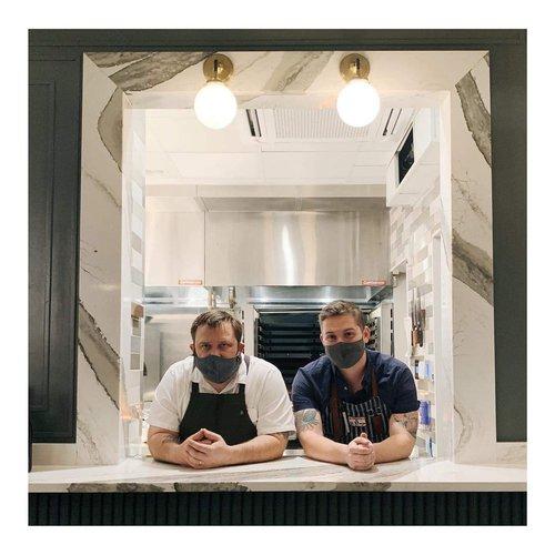Common Thread chefs Brandon Carter and John Benhase.
