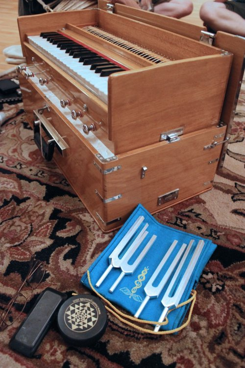 Duplessie utilizes an array of tools to  create sounds.