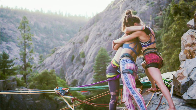 A scene from 'Slack Sisters', a documentary featured in the 2021 Mountainfilm on Tour - Savannah film festival.