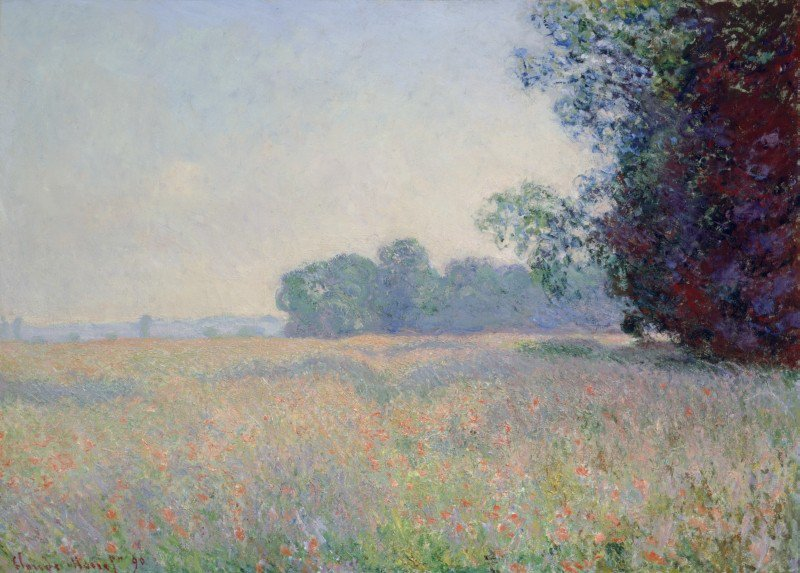 Claude Monet (French, 1840-1926) Champ d'avoine (Oat Field), 1890 Oil on canvas, 26 x 36 7/16 inches Samuel P. Harn Museum of Art, University of Florida Gift of Michael A. Singer 1999.6