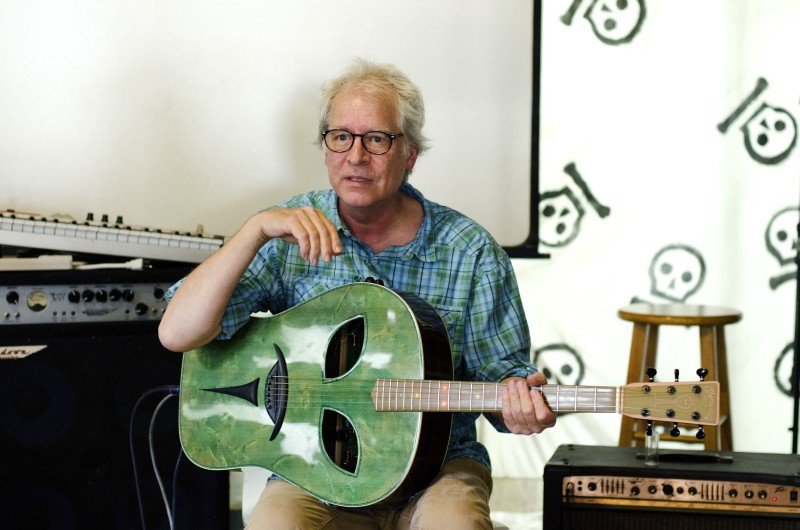 Richard Leo Johnson performs in-shop at Graveface Records and Curiosities.