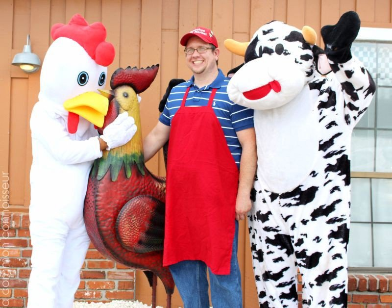 Matthew McClune (middle) and brother Andrew (cow) follow their father's footsteps with the family business.
