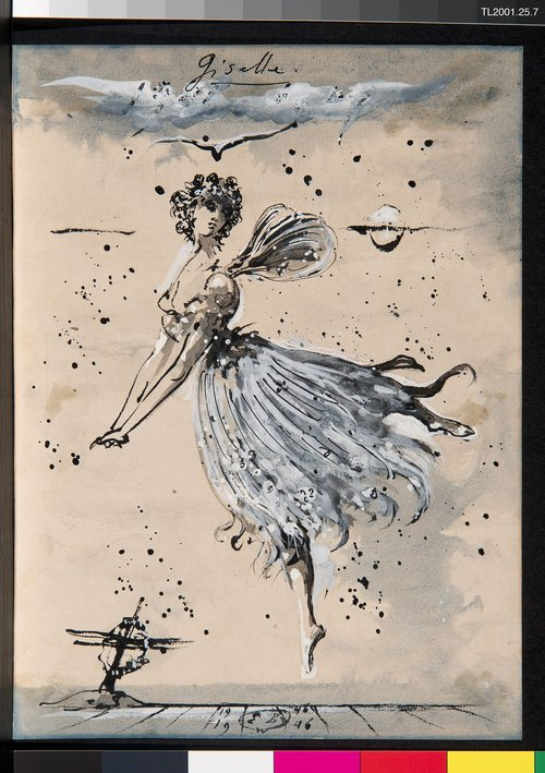 Costume design for Giselle, Act II, in Giselle' by Eugene Berman.