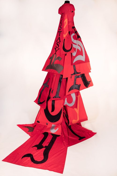 'Red Ecstasy Dress from Divide Light' by Lesley Dill.