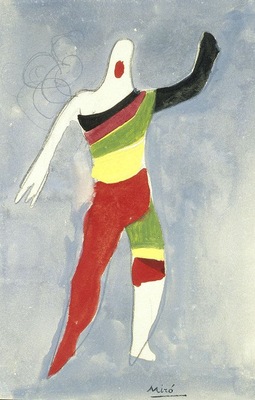 Costume design for a Spinning Top in Jeux d'Enfants' by Joan Miró.