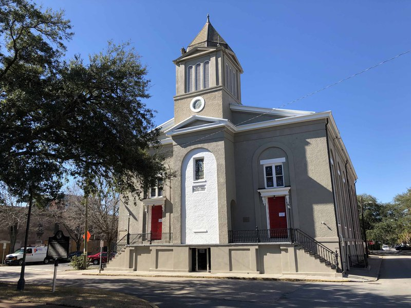 The First African Baptist Church on Savannah's Franklin Square.