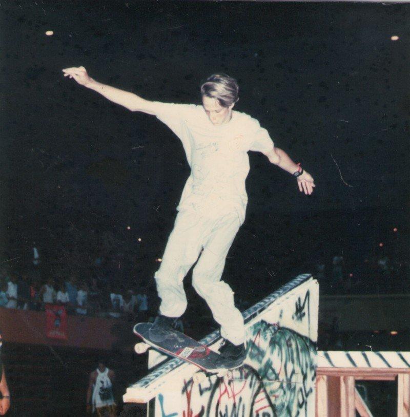 Tony Hawk rode rails at Savannah Slamma in the late 1980's.
