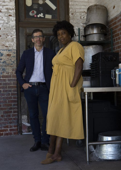 The partners behind The Grey, John O. Morisano (left) and Mashama Bailey, have published a new memoir, 'Black, White, and The Grey'.