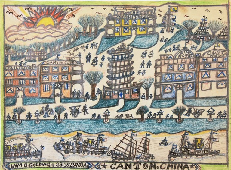A picture by folk artist William O. Golding acquired by the Telfair Museums in 2020.