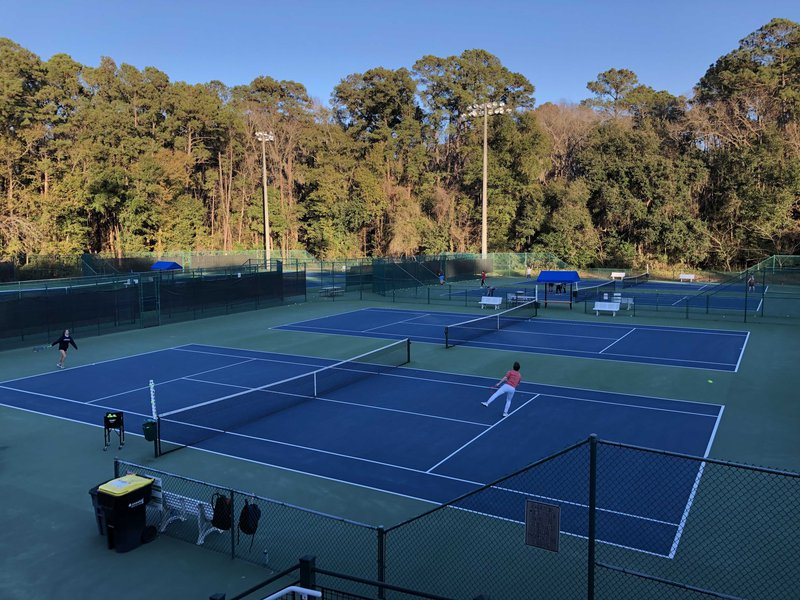 The Bacon Park Tennis Complex is a modern facility popular among players of all skill levels.