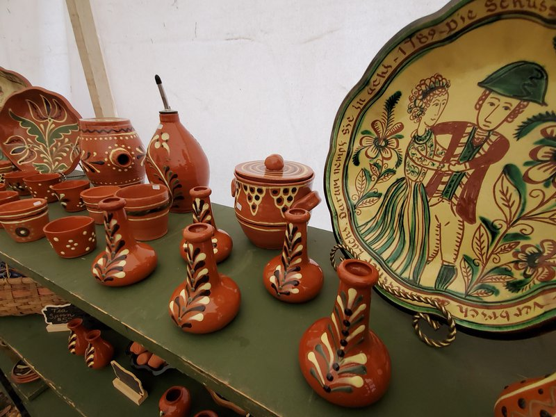 A variety of historically styled pottery created by Tammy Zettlemoyer.