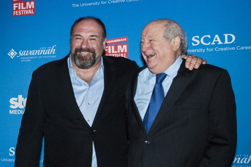 The late James Gandolfini and Bobby Zarem (right), during happier times at a previous Savannah Film Festival