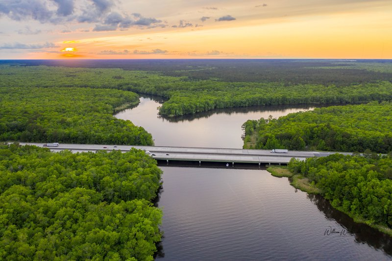 Billy Harrell's photo of the Ogeechee-Canoochee confluence won the Aerial category of the Ogeechee Riverkeeper photo contest.