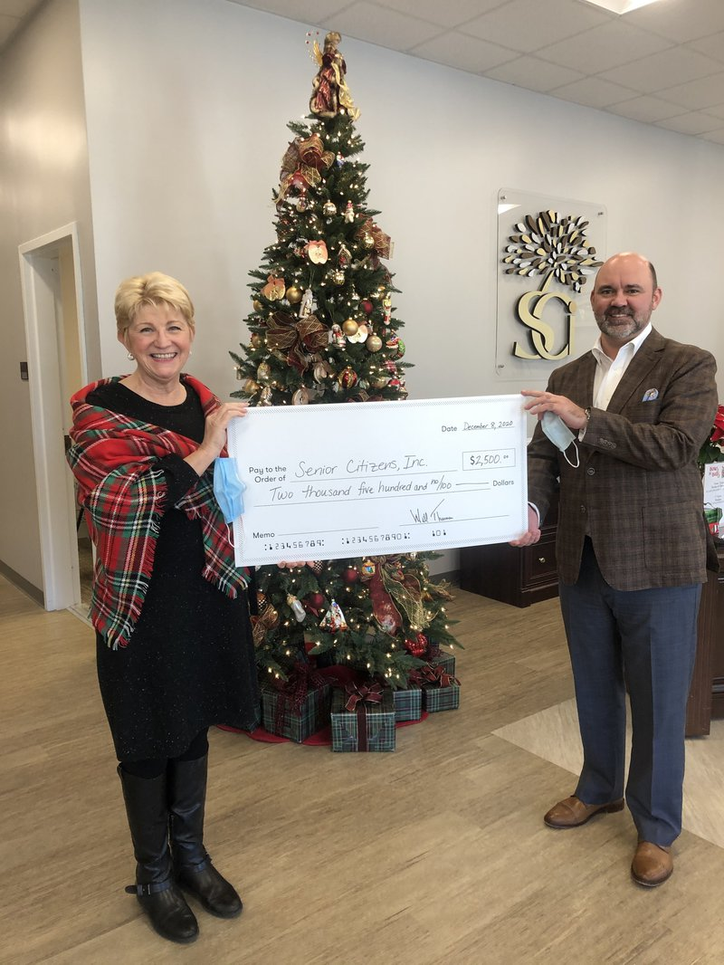 Berkshire Hathaway HomeServices Cora Bett Thomas Realty offers a $2,500 donation to Senior Citizens, Inc.