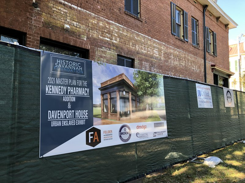 The Kennedy Pharmacy on Broughton Street will house the Davenport House gift shop and staff offices following the renovation.
