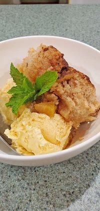 brown butter bourbon peach cobbler