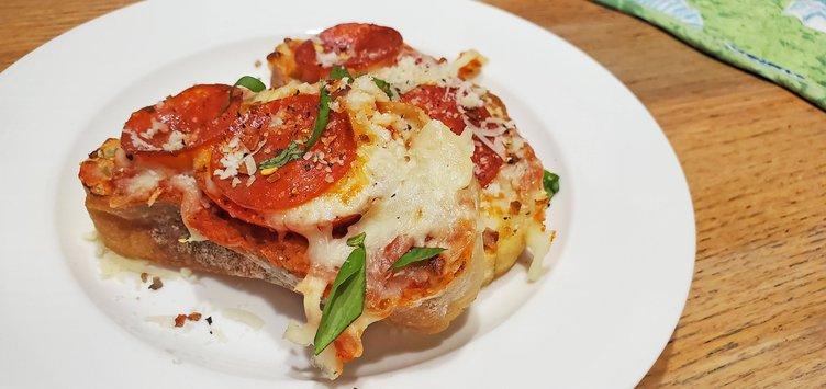 pepperoni ciabatta bread