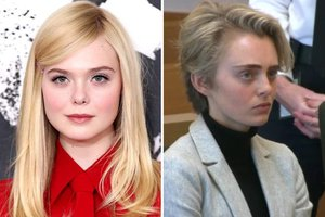 """Elle Fanning, left, will play Michelle Carter, shown at right, in the Hulu limited series """"The Girl from Plainville,"""" which will begin filiming in Savannah soon and his looking to hire hundreds of local extras."""