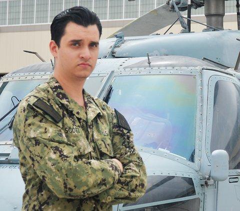 Photo courtesy U.S. Navy Statesboro native Mario Scott serves with the Navy's Helicopter Sea Combat Squadron SIX (HSC 6) in San Diego.